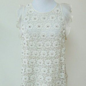 3.1 Phillip Lim Crystal Flower Blouse Size 4